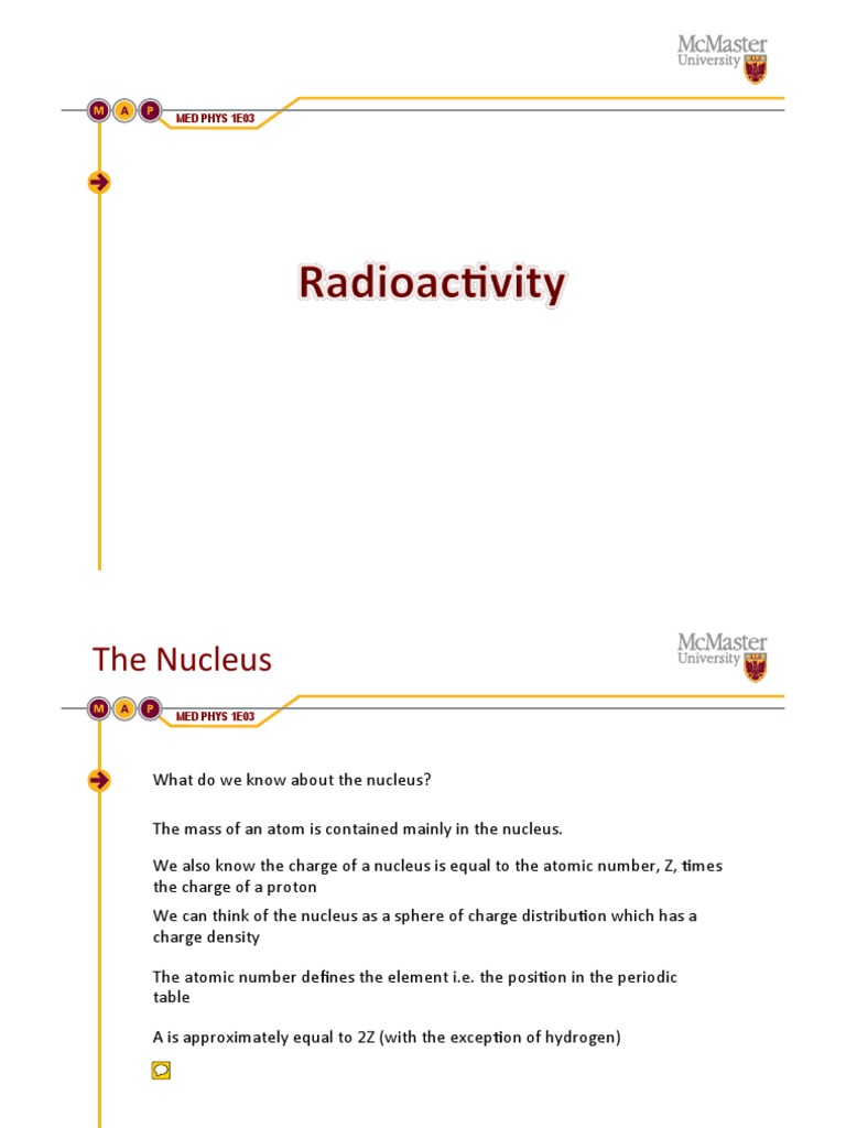 8 radioactivity powerpointpdf atomic nucleus radioactive decay urtaz Images