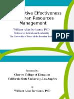 Human Resources Effectiveness