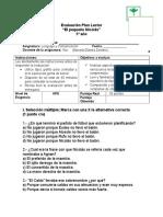 Evaluación Plan Lector El Pequeño Nicolas 5 Año