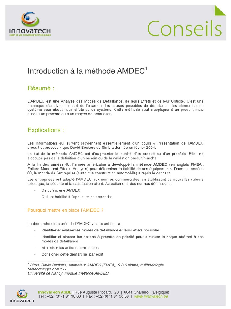 La_methode_Amdec.pdf | Engineering | Science