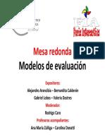 Mesa Redonda Modelo de Evaluacion