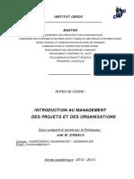 Management Des Projets et des Organisations