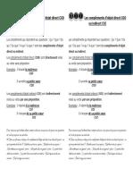 Les compléments d'objet direct COD ou indirect COI