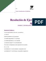 Resolución de Ejercicios de Aplicación. Unidad 1