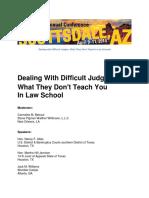Difficult Judge