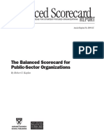 Balanced Scorecard for Public Sector Organizations HBR 111599