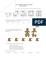 Examen Canguro Matematico Nivel Escolar 2013