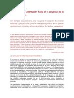 Documento de Orientación Hacia El II Congreso de La Gesta Libertaria