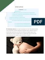 Que Es El Embarazo Precoz