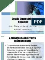 Aula 06 de 14 - Gestão Empresarial e Negócios (07-07-10)