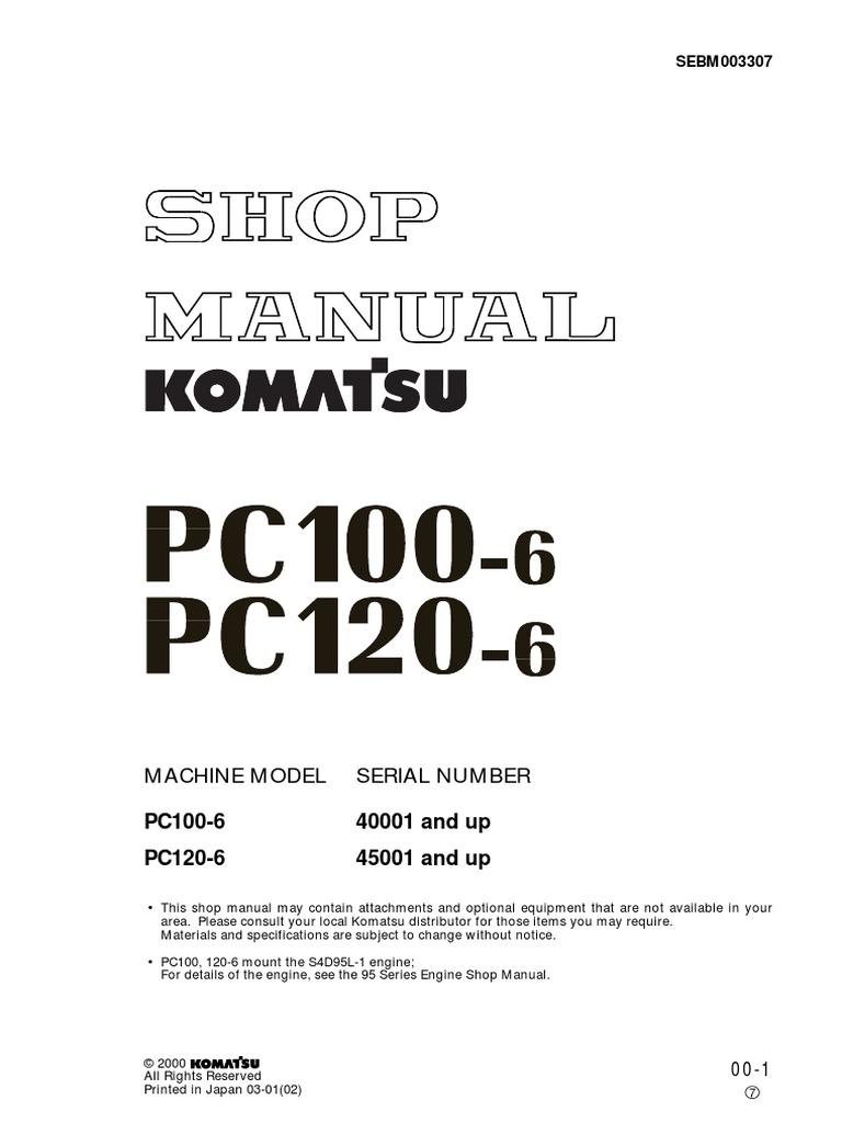manual de servicio komatsu pc 100 y pc120 troubleshooting