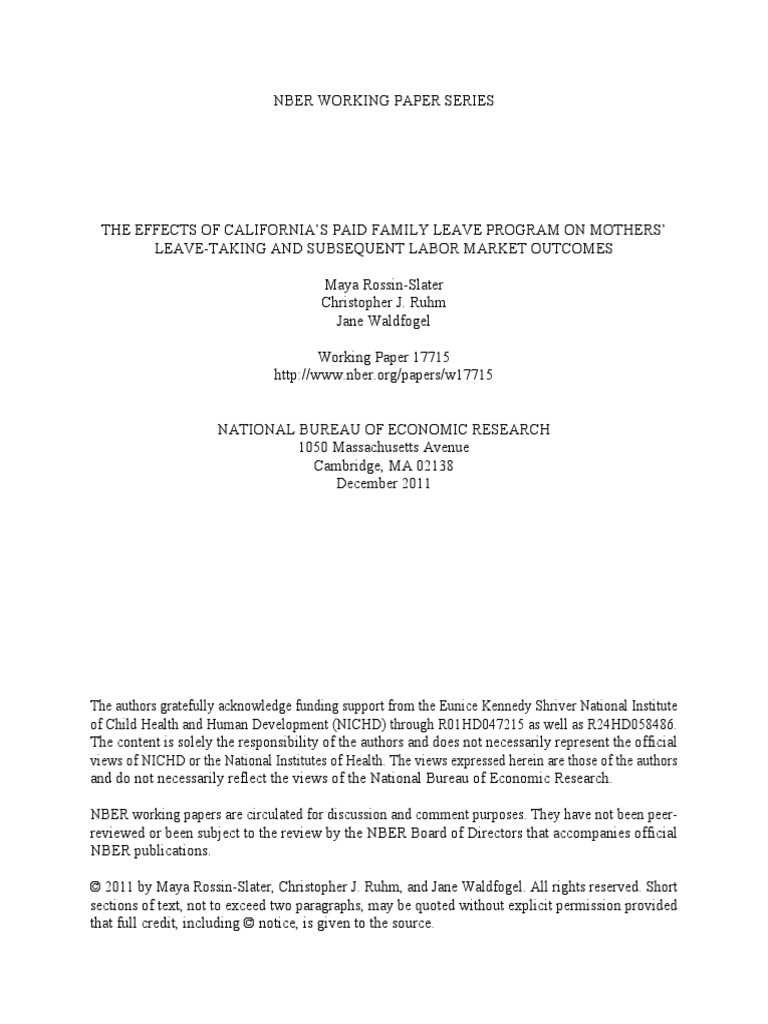 Research paper on family medical leave act