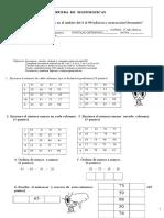 Prueba1 de Matematica 2º Básico Marzo 2013