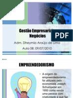 Aula 08 de 14 - Gestão Empresarial e Negócios (09-07-10)