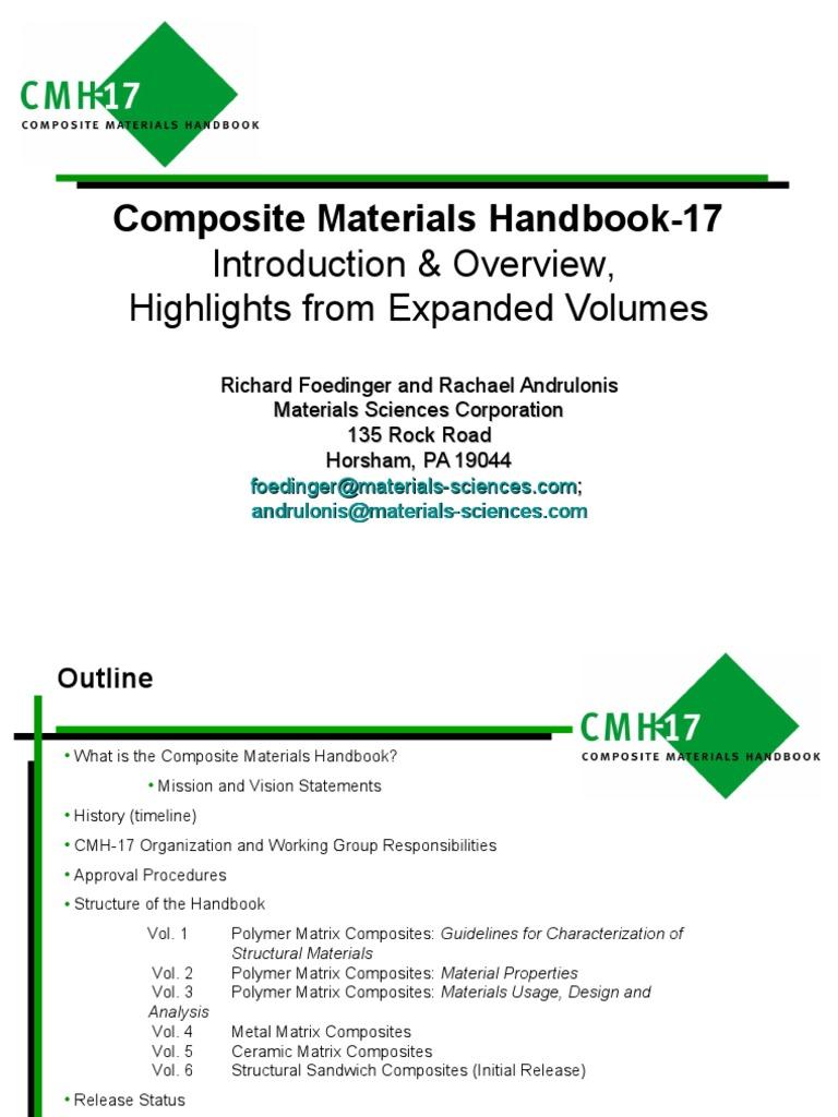 CMH17_AIAA_STC100411-Military Handbook 17-Composite Material ...