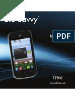 ZTE Savvy Z750C User's Manual