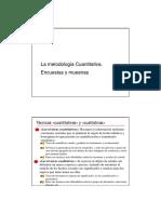 Metodologia Cuantitativa Encuestas y Muestras