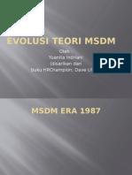 Hrm Evolution, Strategic Hrm