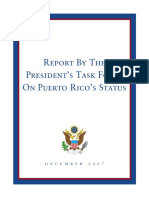 Report by the President Task Force on Puerto Rico Status, Dec-2007
