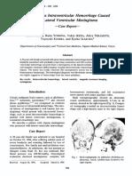 Neurologia Medico-chirurgica Volume 36 Issue 8 1996 [Doi 10.2176_nmc.36.586] MURAI, Yasuo; YOSHIDA, Daizo; IKEDA, Yukio; TERAMOTO, Akira; KOJ -- Spontaneous Intraventricular Hemorrhage Caused by Lat