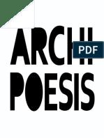 Archipoesis