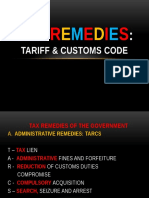 Tax Remedies Tariff and Customs Law