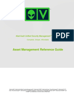 AlienVault Asset Management Reference Guide