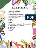 Indice Caratulas