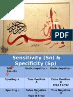Sensitivity & Specificity
