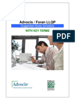 Advocis - Foran LLQP Suggested Study Schedule WITH KEY TERMS