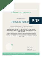 tomahoney ihi certificate