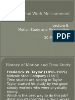 IE Lecture 6 Motion Study and Micromotion Study