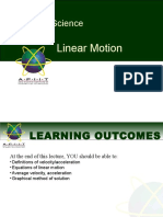 4 Linear Motion