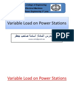 Variable Load on Power Stations PRINTABLE