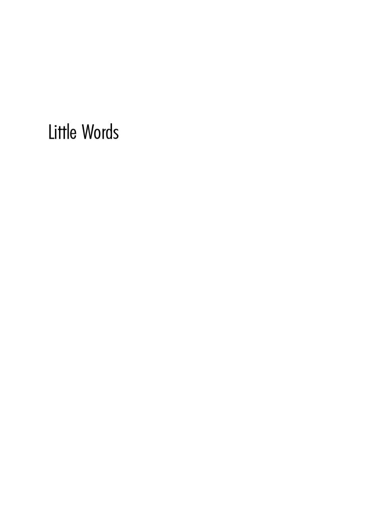 little words pdf   Second Language   Clause