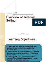 Ch 2-Overview of Personal Selling