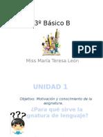 3º Básico B Unidad 1 (Motivación)