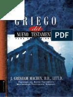Griego Del Nuevo Testamento Para Principiantes J Gresham Machen
