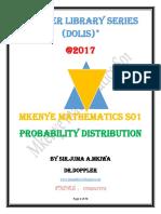 MKENYE  MATHEMATICS-S01,FORM SIX-Probability Distribution