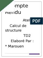 atelier Calcul de structure