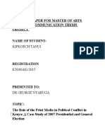 Proposal Role of print media and political conflict in Kenya.doc