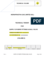 05. Standard Specification of MDPE Ball Valve
