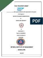 Mpbim project report sap