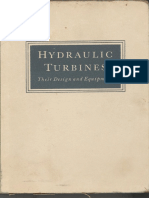 Hydraulic Turbines Their Design and Equipment Nechleba