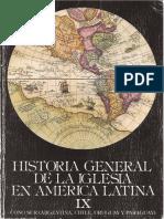 Historia General de La Iglesia Tomo IX