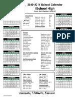 2010-2011 iSchool High Calendar (1)
