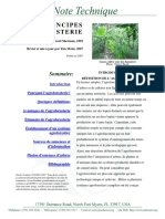 Principes d Agroforesterie
