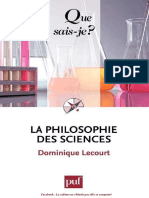 La Philosophie Des Sciences - Dominique Lecourt