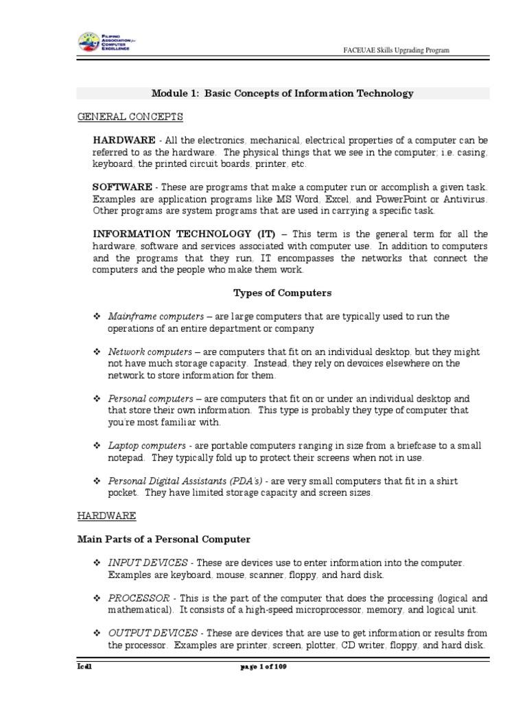 icdl basic manual computer data storage operating system