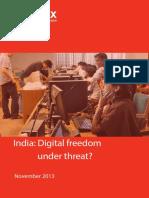 India Digital Freedom Under Threat